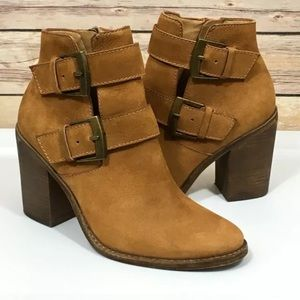 Steve Madden Trevur Booties Backle Strap Zip